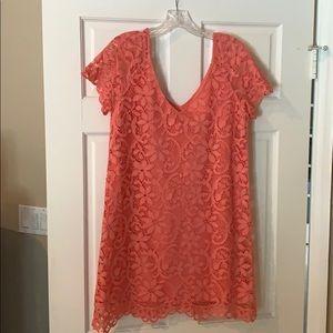 Salmon BB Dakota mini lace dress